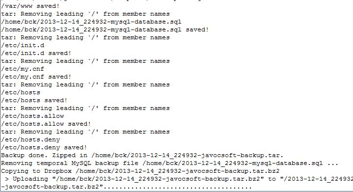server backup script